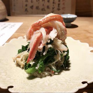 かにと菜の花(魚とお酒 ごとし )