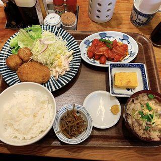 昭和定食 肉吸いチェンジ(わっぱ定食堂)