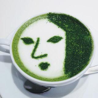 よーじや抹茶カプチーノ(よーじやカフェ渋谷ヒカリエShinQs店)