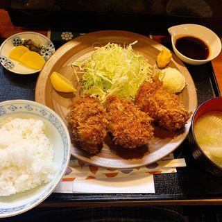 カキフライ定食(3個)(三友 )