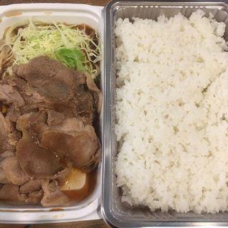 普通の生姜焼き弁当(生姜キング 浅草橋本店)