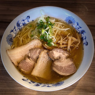 限定 塩煮干しラーメン 肉増し(煮豚 焼豚)(くじら食堂 )
