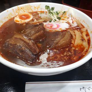 うま辛角煮らーめん(東麺房 大塚店)