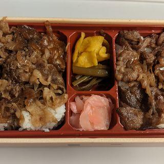 近江牛食べ比べ弁当(牛めし&カルビ)