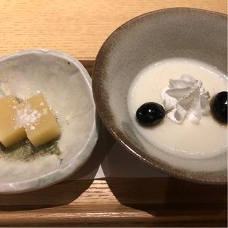 柚子羊羹と甘酒プリン