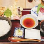 天ぷら刺身膳