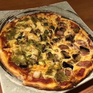 今日のピザ(食堂 やすきち)