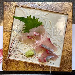 刺身 鯛と平政(田舎茶屋)