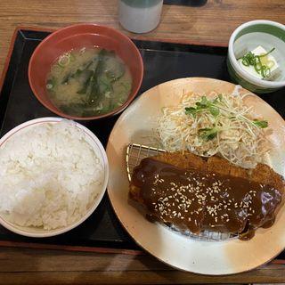 味噌かつ定食(街かど屋 万代店 )