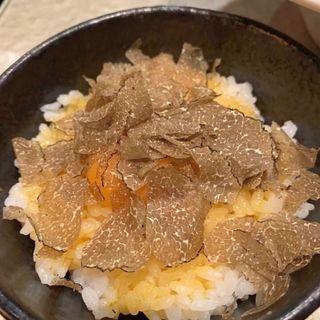 特製つけ麺 + トリュフ卵かけご飯(銀座 魄瑛)