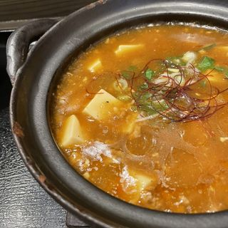 麻婆豆腐(土鍋麻婆浜やん)