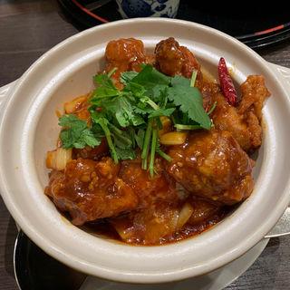 鶏の甘辛味噌土鍋ごはん(暁雲亭)