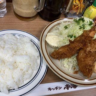 エビフライとクリームコロッケ(キッチン南海 神保町店)