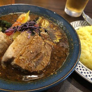 豚角煮ベジカレー(オリジナル・激辛・炙りチーズonライス)(サッポロ スープカレー ジャック (Sapporo Soup Curry JACK))