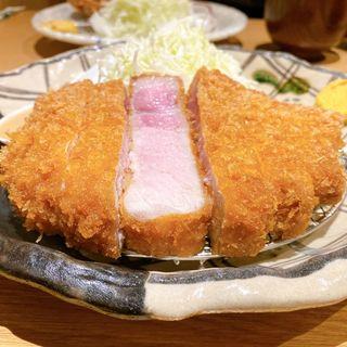 リブロースかつ定食(ぶた いながき)
