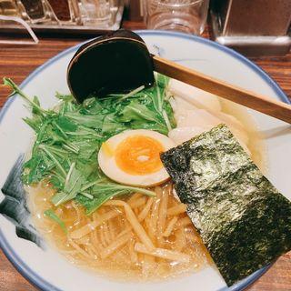 名物の柚子塩ラーメン (AFURI 横浜 (阿夫利))