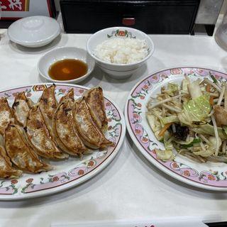 野菜炒め、餃子、ライス小(餃子の王将 高円寺店 )