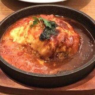 鉄板餅チーズオムライス(ミートシノワ)