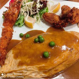 牛肉のオムライス、世界で一番美味しい海老フライ、絶対食べたい牡蠣フライ