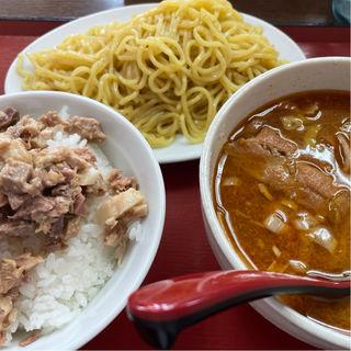 ランチ味噌つけ麺とチャーシュー飯