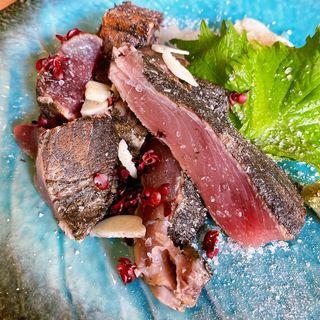 藁焼きかつおの塩たたき(食堂miacuci)