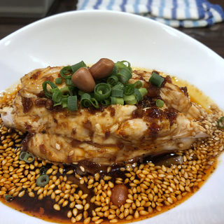 ミニよだれ鶏(名物よだれ鶏と濃厚鶏白湯麺 MATSURIKA 武蔵新田店)