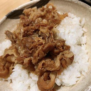 肉めしセット、ごぼう天(うどん ウエスト 鎌ヶ谷店 )
