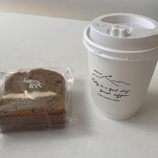 カフェオレとにんじんのケーキ