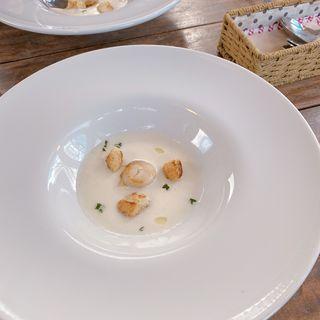 貝柱のポタージュ(prato cafe (プラートカフェ))