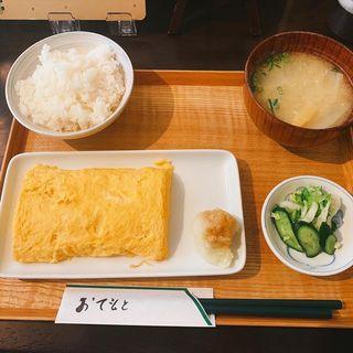 出汁巻玉子定食(おむすび処 飯なり )