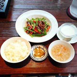 チンジャオロース定食(China Garden頤和園 天神店 (イワエン))