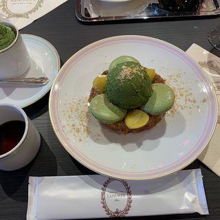 フレンチトースト 抹茶(laduree kyoto gion)
