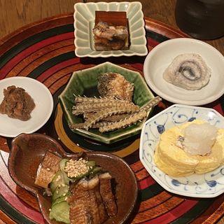 鰻珍味5点盛り(にょろ助 赤坂)