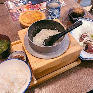 わら焼き鰹のタレたたき定食(7切れ)(土佐わら焼き 龍神丸 西神中央店)