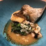 鮮魚と野菜と貝類のリゾット