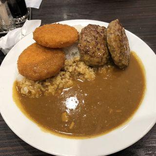 カニクリームコロッケとハンバーグのポークカレー(CoCo壱番屋 日進香久山店 (ココイチバンヤ))