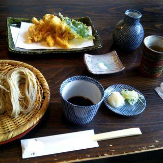 ざるそば(小)¥500+ホヤの天婦羅(蕎麦 りぞう庵 )