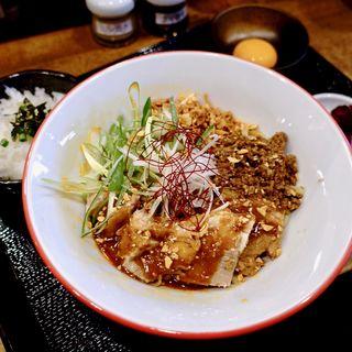 トロトロチャーシュー汁なし担担麺(ダイブ飯+玉子付き)(薩摩×鉄板 ぼっけもん)