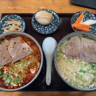 蘭州牛肉麺セット(耶曼牛肉面)