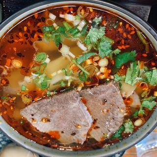 蘭州牛肉麺セット