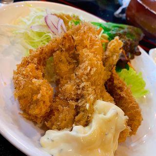 エビフライ定食(衣笠 (定食レストラン))