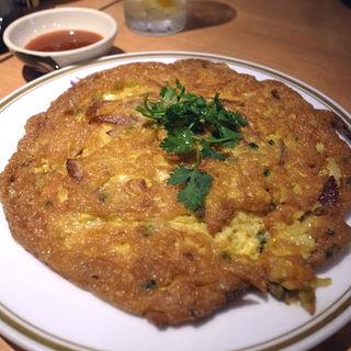 カイジャオムーサップ(豚挽肉入り卵焼き)(タイ田舎料理 クンヤー )
