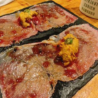 黒毛和牛大判炙りカルパッチョ(大衆ビストロ 匠 (TAKUMI))