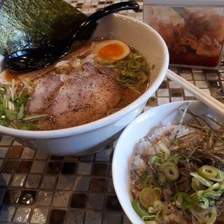 Aセットミニ焼豚丼(牛骨ラーメン香味徳大塚店)