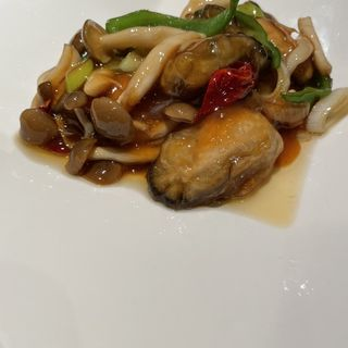 牡蠣の唐辛子炒め(鳳龍亭 )