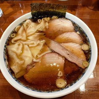 手打ワンタン麺(+焼豚6枚トッピング)(自家製手打ち中華そば もり中)