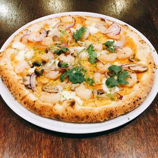 海老とキノコのトムヤムソース(PIZZA365)