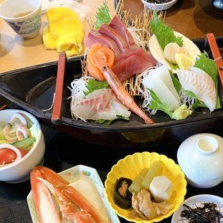 お造り定食 デラックス(お食事処 味波季 (マル海渡辺水産))