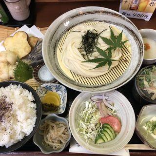 〜愛知県産〜活❗️鱧の天ぷらセット(京うどん 纏)