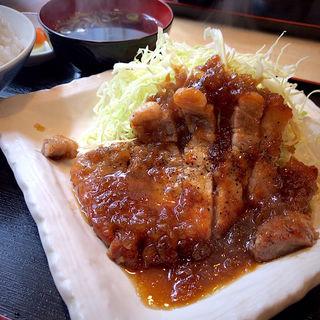 豚ステーキ定食(風笑り家 )